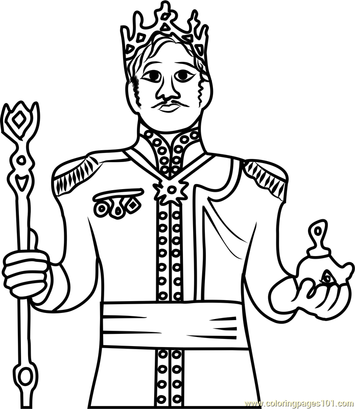 King of Arendelle Coloring Page