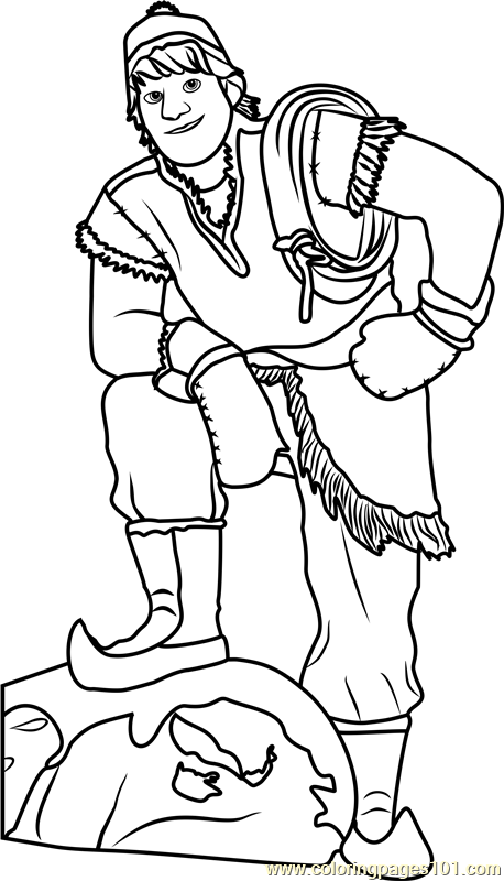 Kristoff Coloring Page Free Frozen Coloring Pages