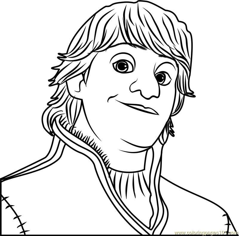Kristoff Face Coloring Page - Free Frozen Coloring Pages :  ColoringPages101.com