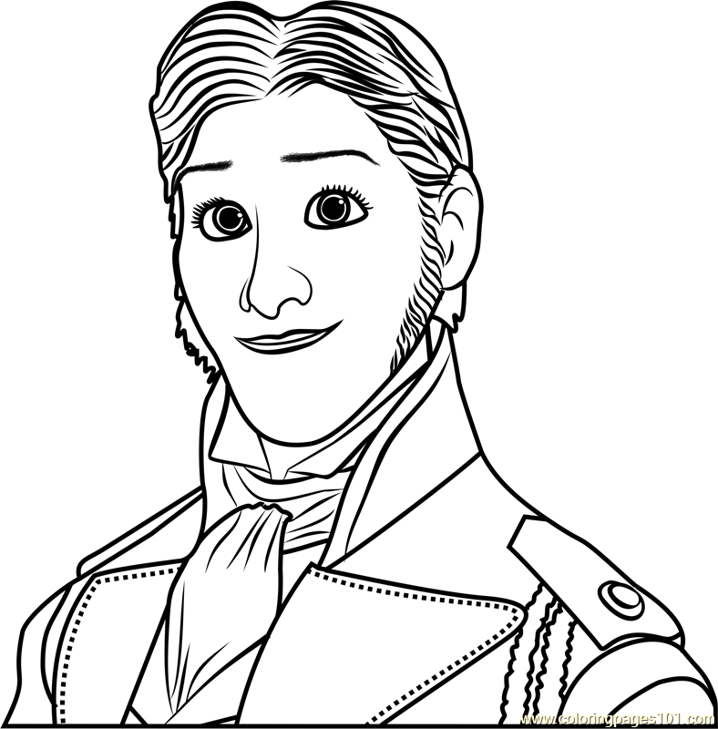 Prince Hans Coloring Page Free Frozen Coloring Pages