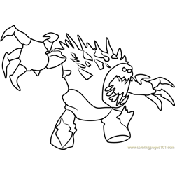 Angry Marshmallow Free Coloring Page for Kids