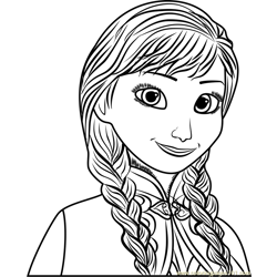 Anna Free Coloring Page for Kids