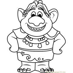 Bulda Free Coloring Page for Kids