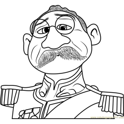 Duke of Weselton Free Coloring Page for Kids