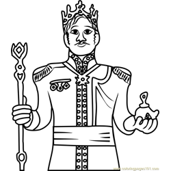 King of Arendelle Free Coloring Page for Kids