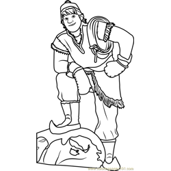 Kristoff Free Coloring Page for Kids