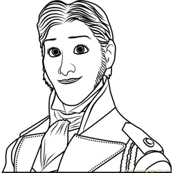 Prince Hans Free Coloring Page for Kids