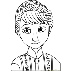 Queen of Arendelle Free Coloring Page for Kids