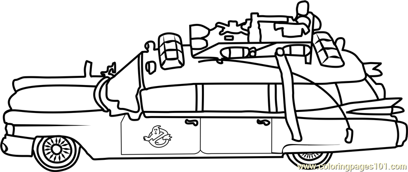 ghostbusters car coloring page