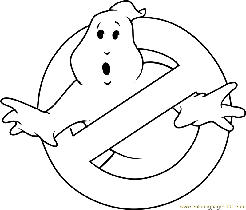Ghostbusters Logo Coloring Page Free Ghostbusters Coloring Pages