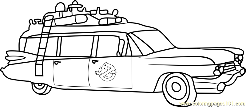 Ghostbusters Van Coloring Page Free Ghostbusters Coloring Pages
