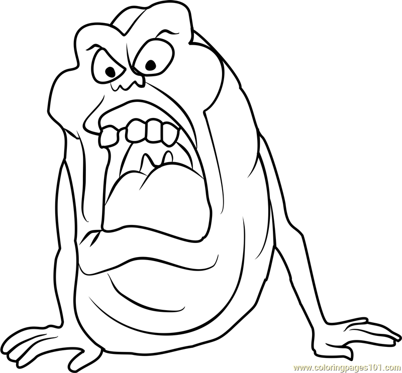 Slimer Coloring Page Free Ghostbusters Coloring Pages