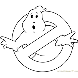 Ghostbusters Logo Free Coloring Page for Kids
