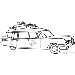 Ghostbusters Van Free Coloring Page for Kids