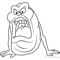 Slimer Free Coloring Page for Kids