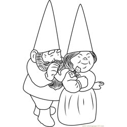 Arnold & Sarah Free Coloring Page for Kids