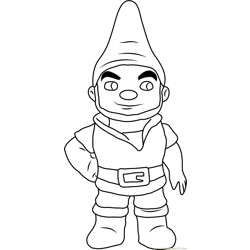 Gnomeo Free Coloring Page for Kids