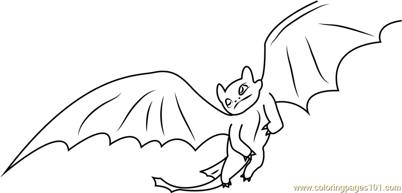 Dragon Flying Coloring Page Free
