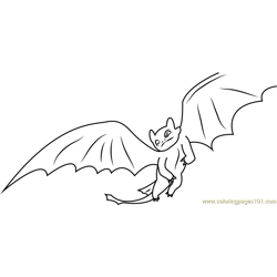 Dragon Flying Free Coloring Page for Kids