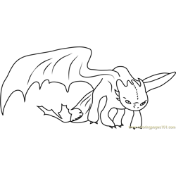 Dragon Free Coloring Page for Kids