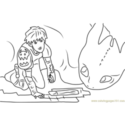 How To Train Your Dragon Free Coloring Page for Kids