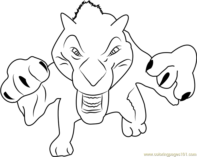 diego ice age coloring pages - photo#27