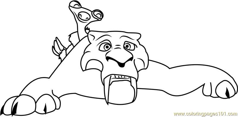 ice age diego coloring pages - photo#9