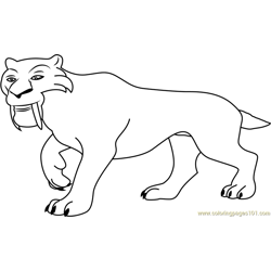 ice age diego coloring pages - photo#6