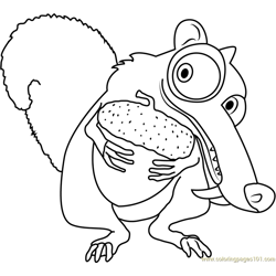 Wpid Ice Age Free Coloring Page for Kids