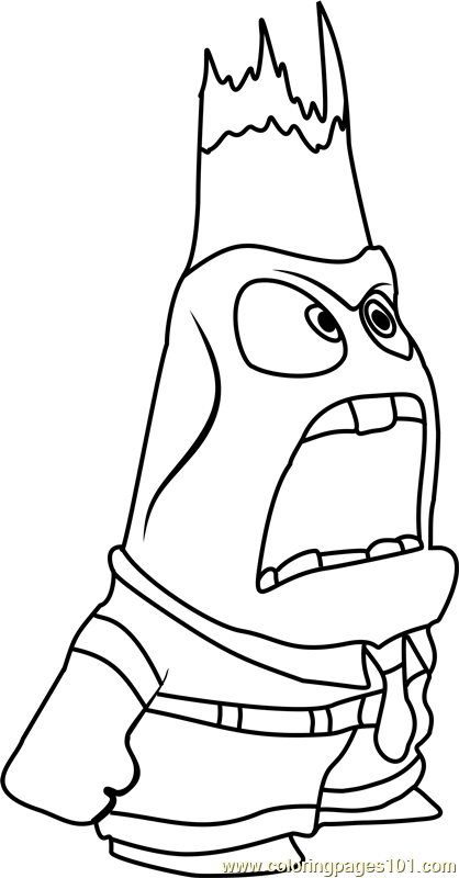 Anger again Coloring Page