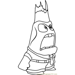 Anger again Free Coloring Page for Kids
