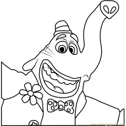 Bing Bong Face Free Coloring Page for Kids