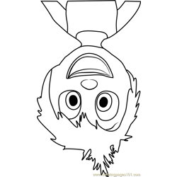 Joy Upside Down Free Coloring Page for Kids
