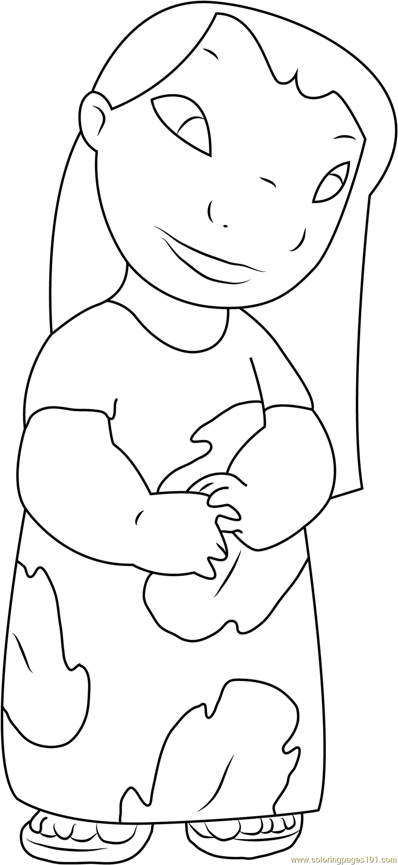 Lilo Pelekai Coloring Page - Free Lilo & Stitch Coloring Pages ... | 1739x800