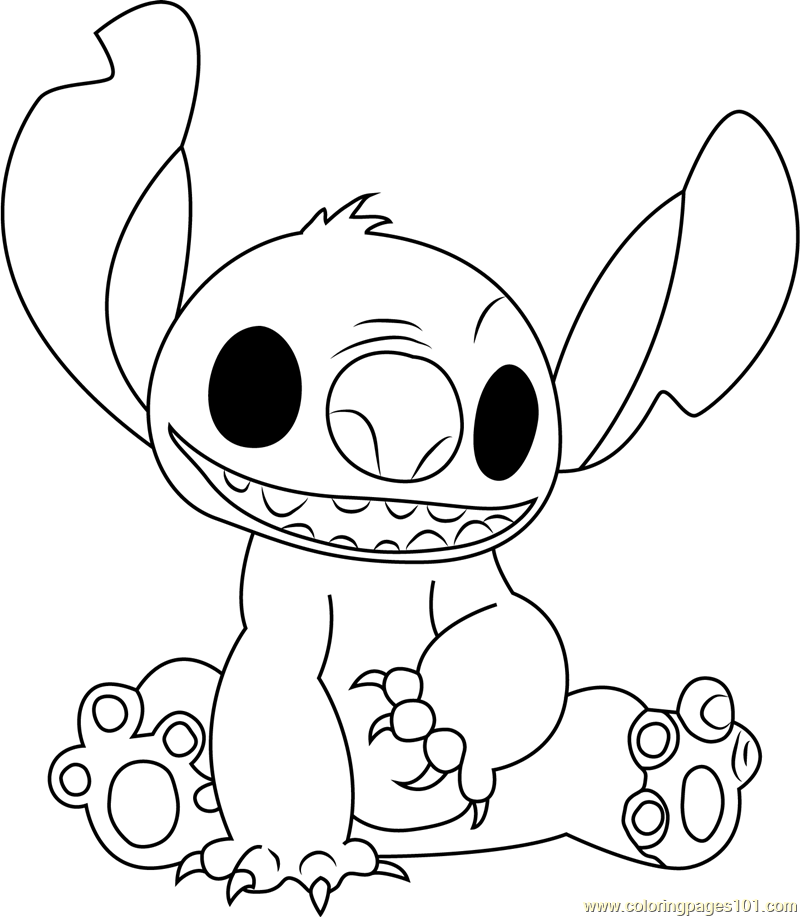 stitch coloring pages cartoon - photo#27