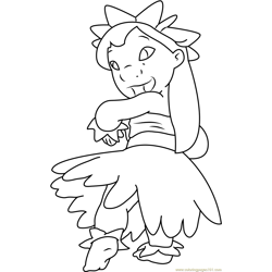 Lilo Hula Outfit coloring page