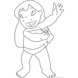 Lilo Free Coloring Page for Kids