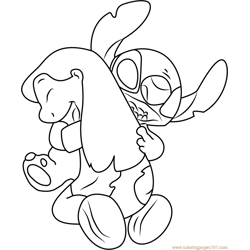 Stitch Free Coloring Page for Kids