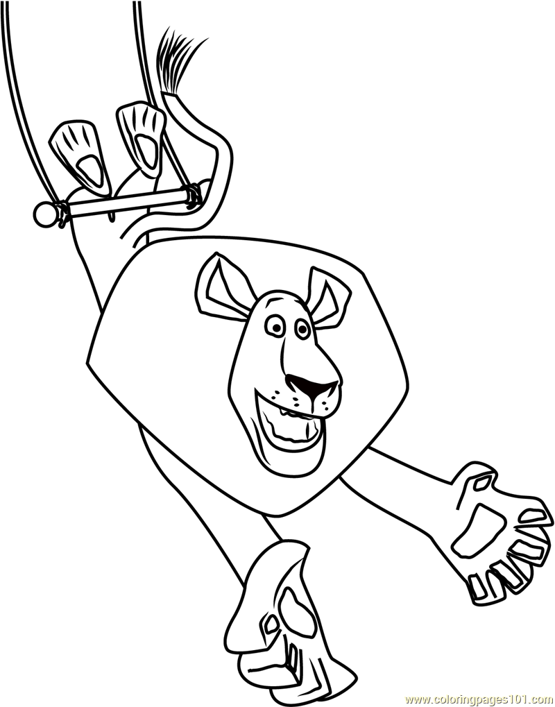 Alex play with Rope Coloring Page