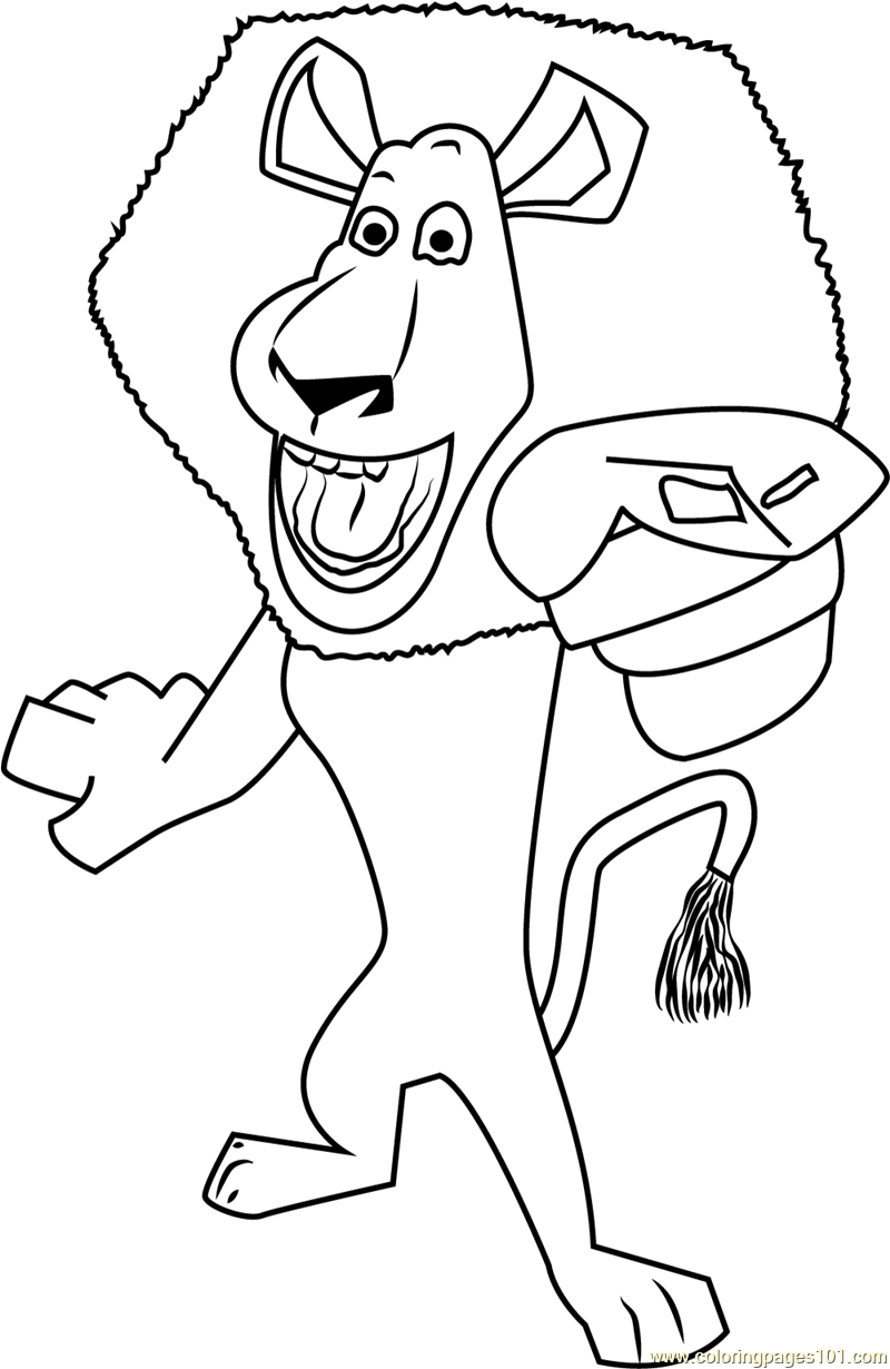 alex the lion coloring pages - photo#17