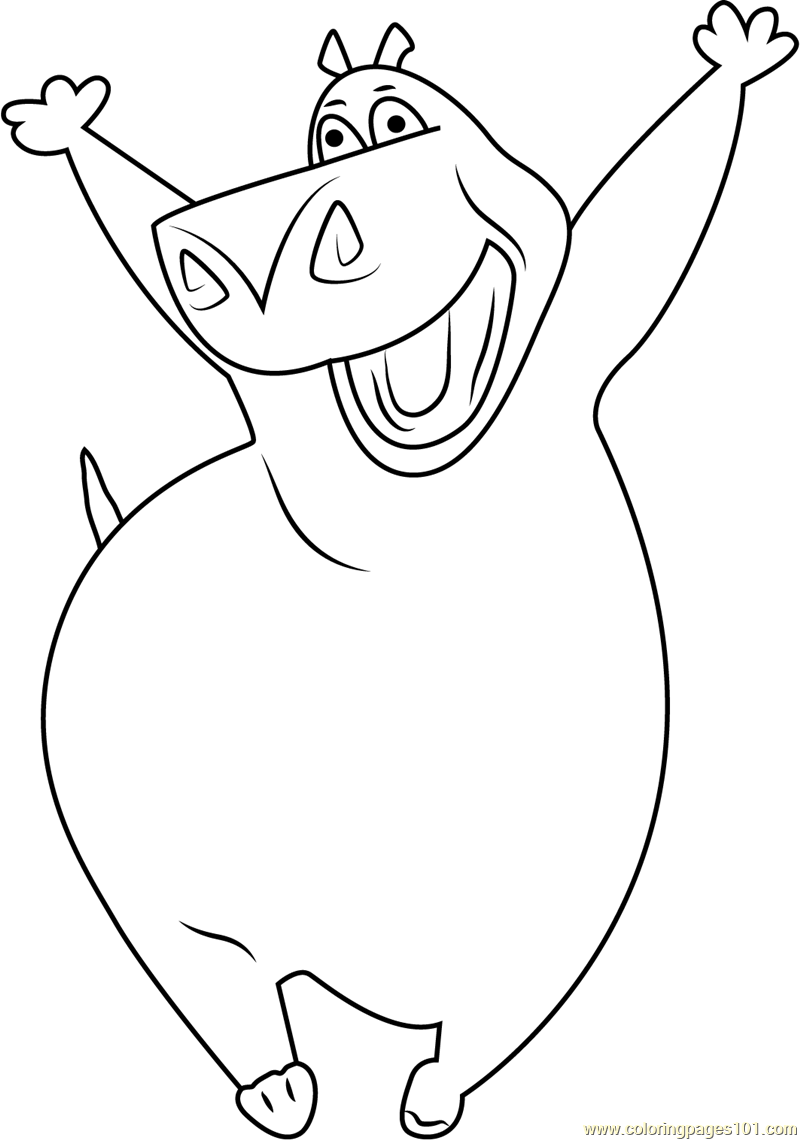 Cheerful Gloria Coloring Page