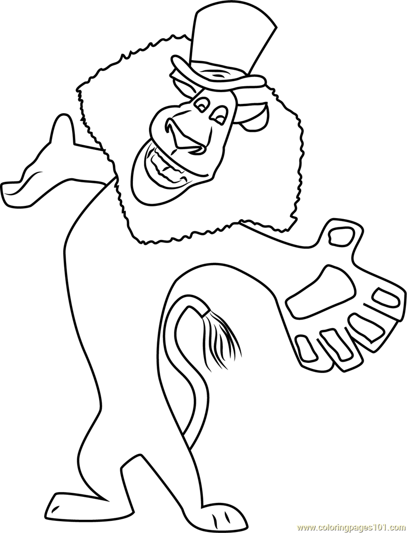 Joyful Alex Coloring Page