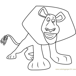 Alex Smiling coloring page