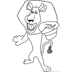 Alex the Lion Free Coloring Page for Kids