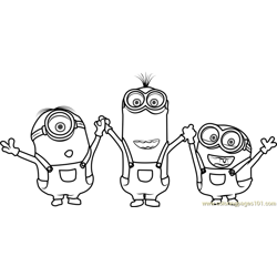 Minions Free Coloring Page for Kids
