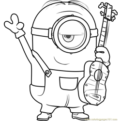 Stuart Free Coloring Page for Kids