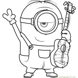 stuart minion coloring pages | Minions Coloring Page - Free Minions Coloring Pages ...
