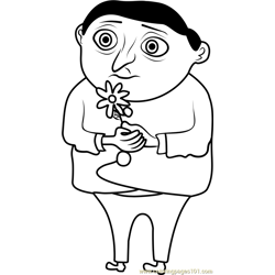 Young Gru Free Coloring Page for Kids
