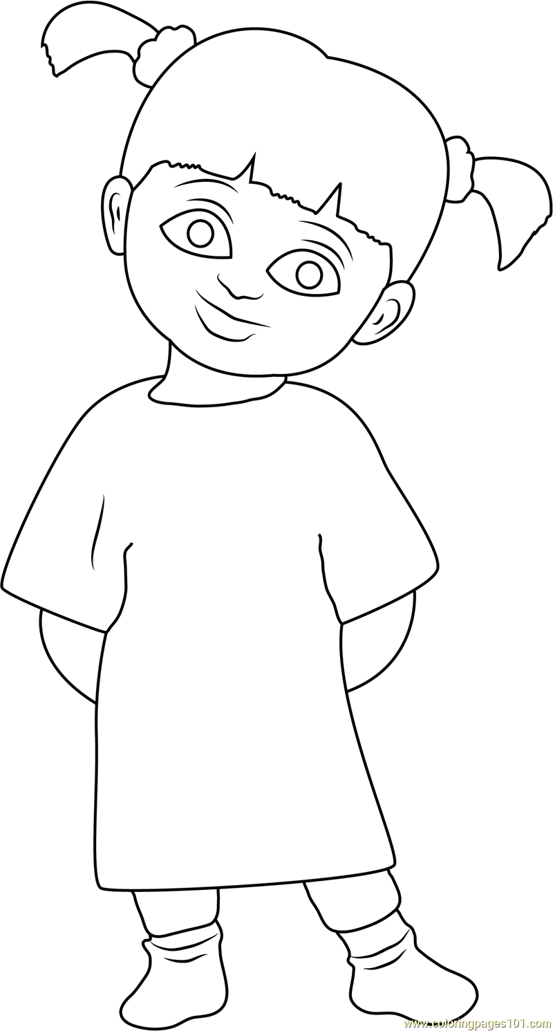 Boo Coloring Page For Kids Free Monsters Inc Printable Coloring Pages Online For Kids Coloringpages101 Com Coloring Pages For Kids