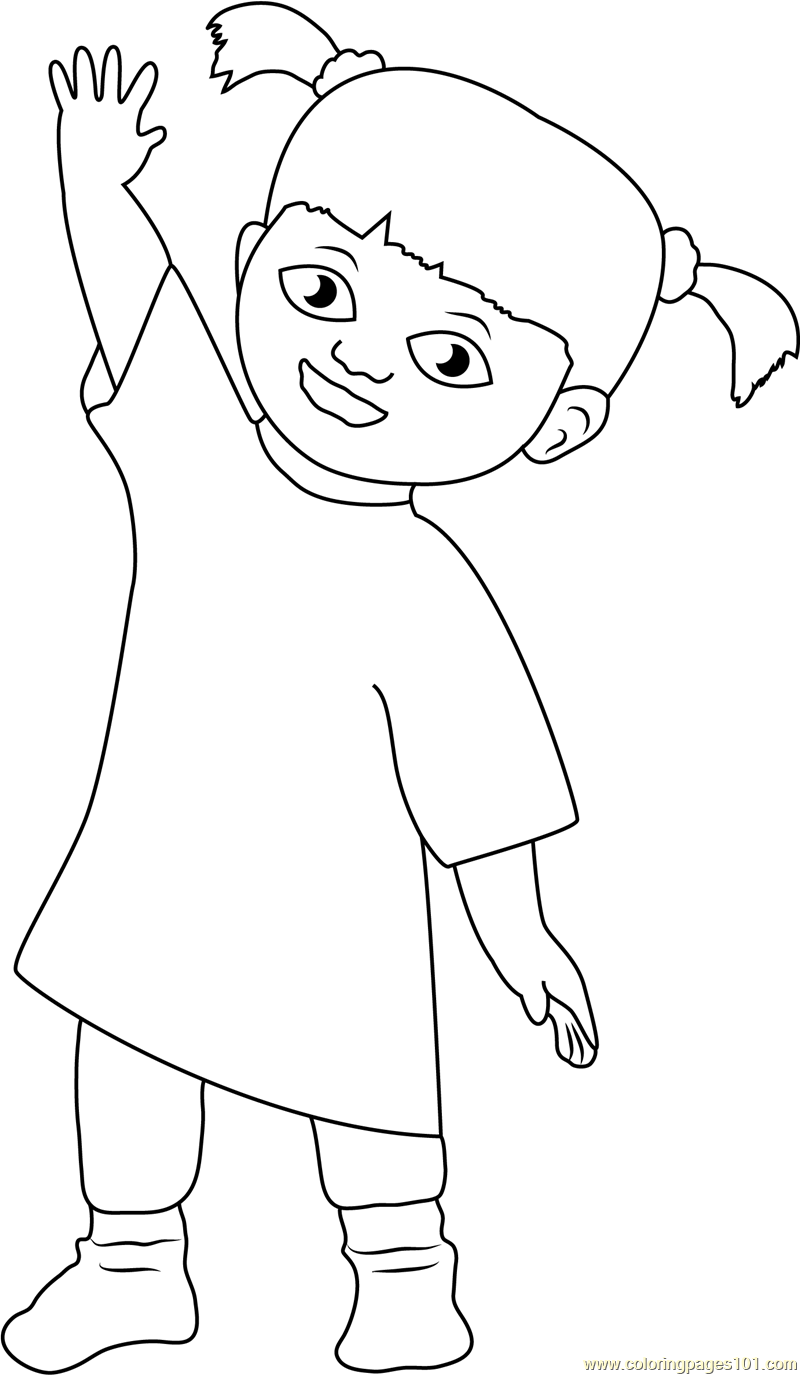 Happy Mary Coloring Page